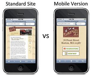 mobile optimised websites before and after