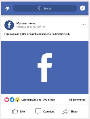 Content for Social Media Platform Facebook