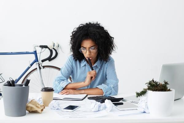 Lady generating blog post ideas