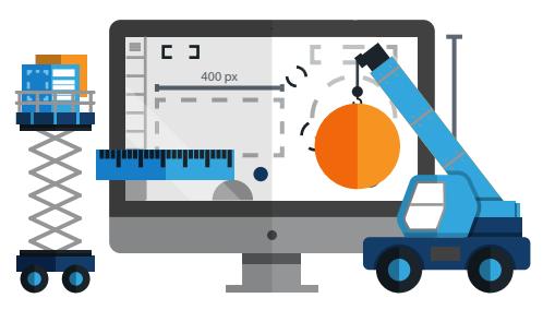 creating a website pdf visuals