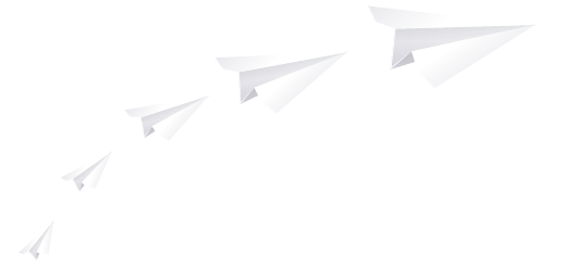 Business growth paper planes